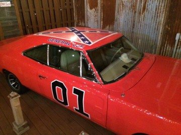 "Cruz chose a venue that comes complete with a replica of the Dukes of Hazzard ""General Lee"" car, Confederate flag and all."