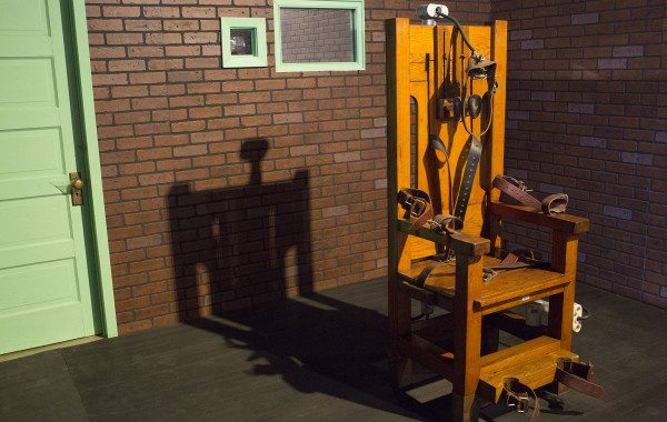 The electric chair, known as Old Sparky, is among the most popular attractions.