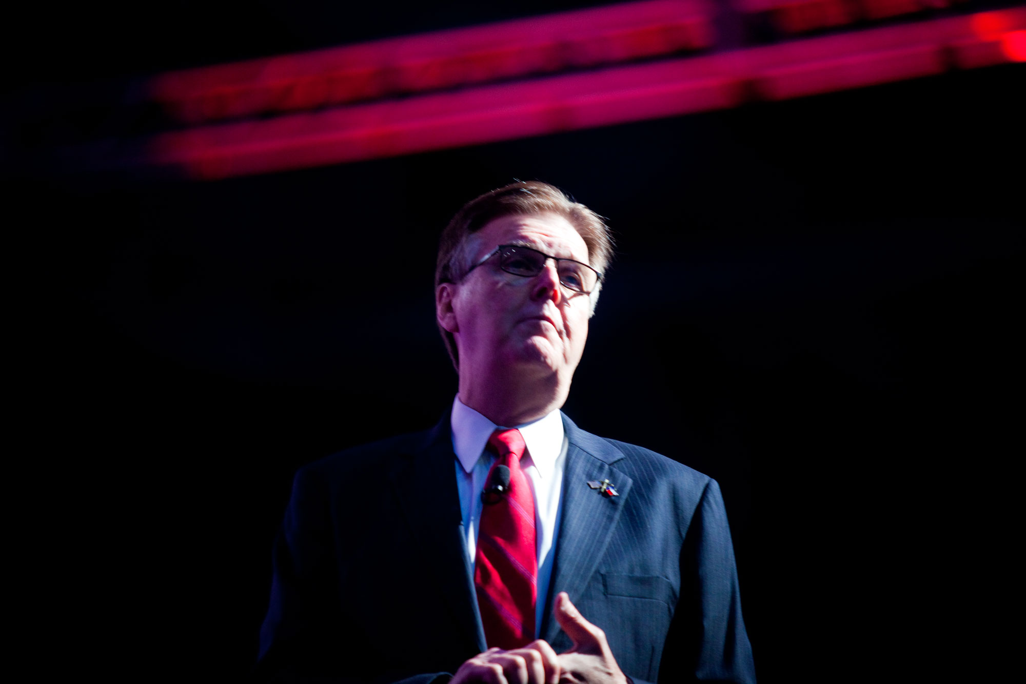 b3c4d0ea24 Lieutenant Governor Dan Patrick addresses the 2016 Republican Party of  Texas convention in Dallas. Patrick Michels