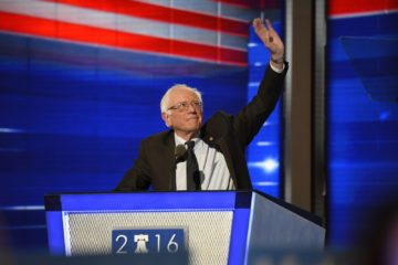 Bernie Sanders at the 2016 Democratic National Convention.