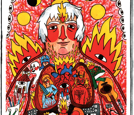 The cover of the 2016 graphic novel profiling artist and musician Daniel Johnston