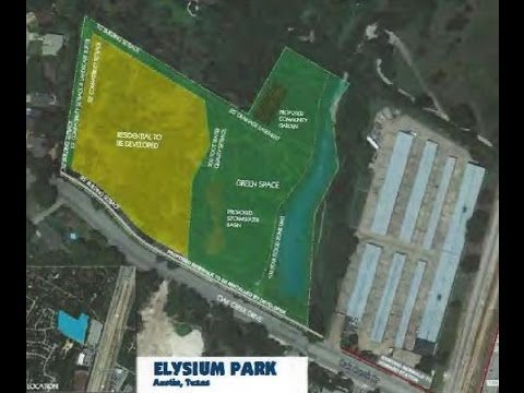 Site plan for the proposed Elysium Park housing development in Austin
