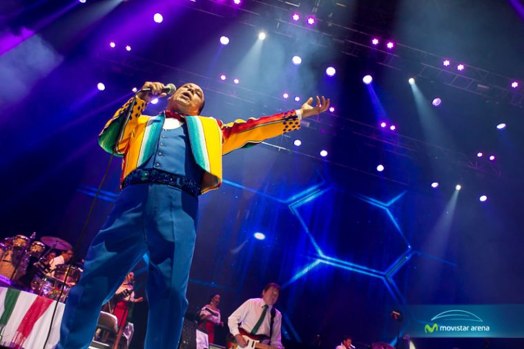 Juan Gabriel, who died August 28, performs in Chile in 2014.