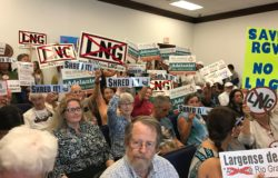anti-LNG activists