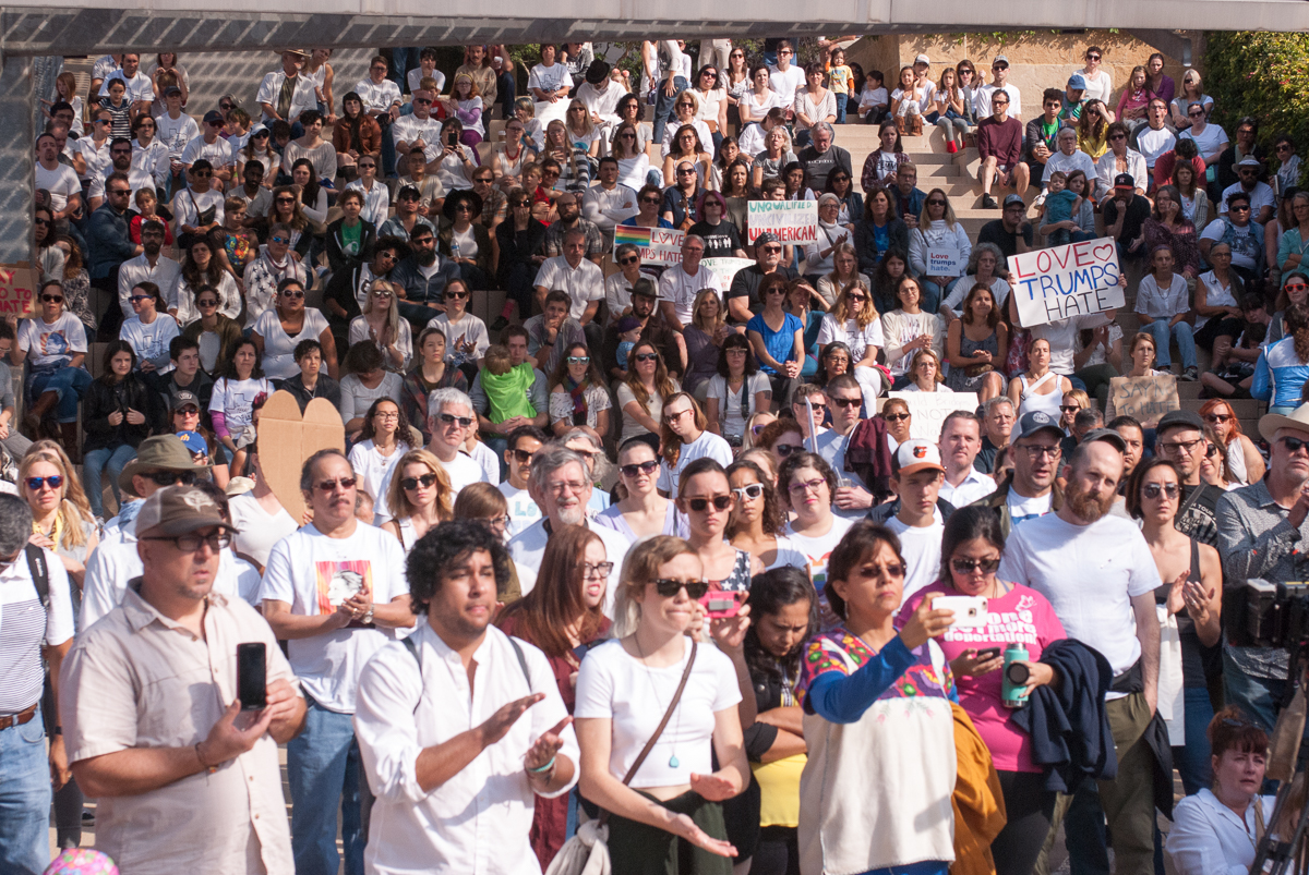 Several hundred attended a rally at Austin City Hall in favor of immigrant rights