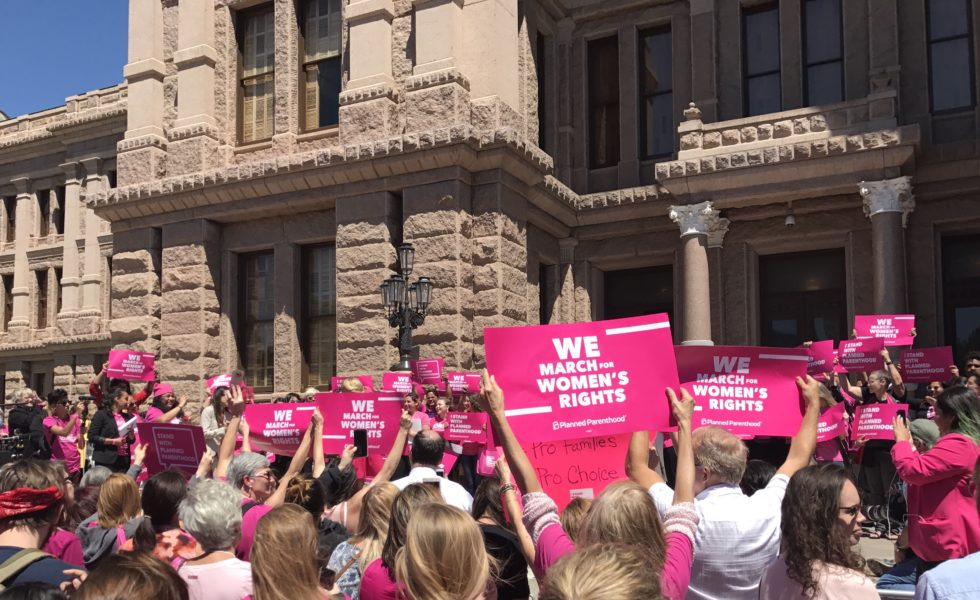 Planned Parenthood supporters rally outside the Texas Capitol in 2017.