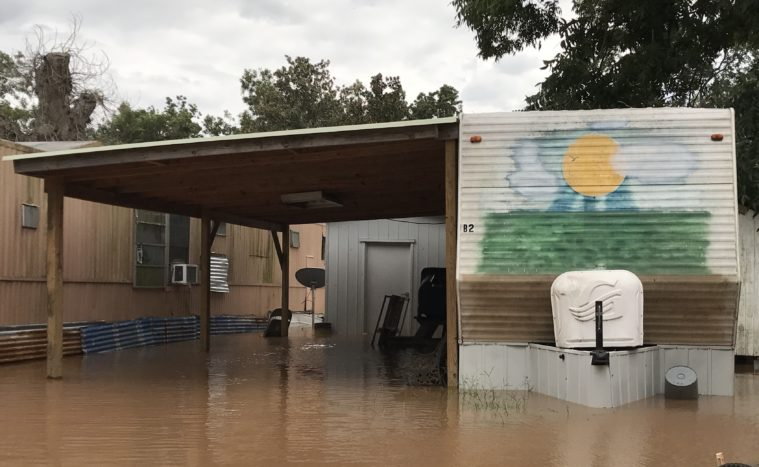 flooding trailer park