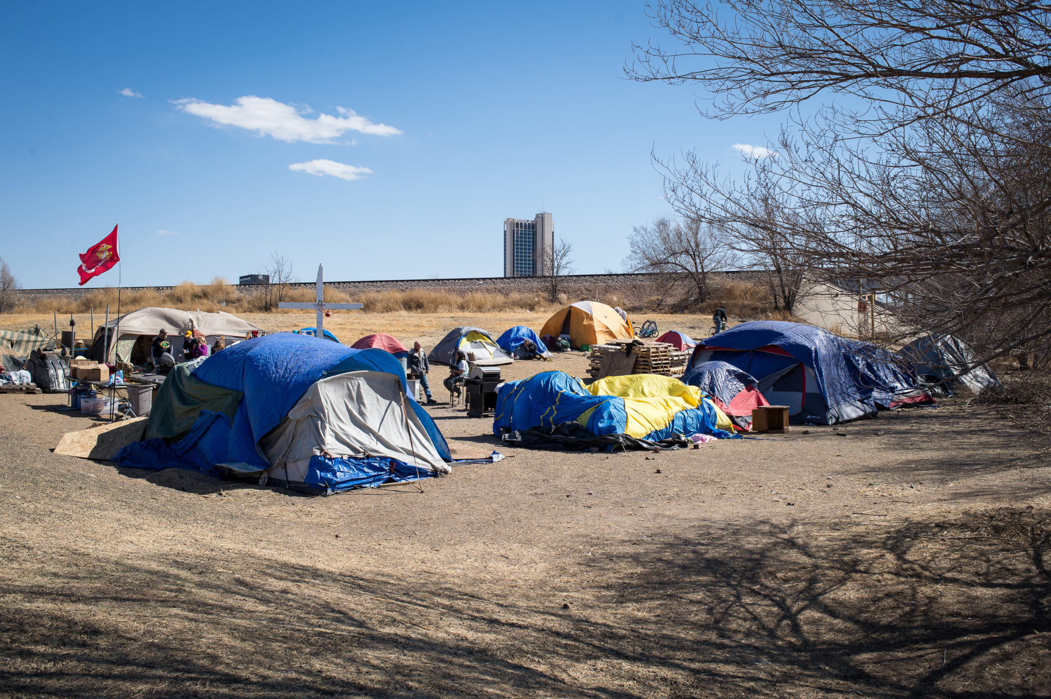 Christ Church Camp of New Beginnings, known as Tent City by some in Amarillo.
