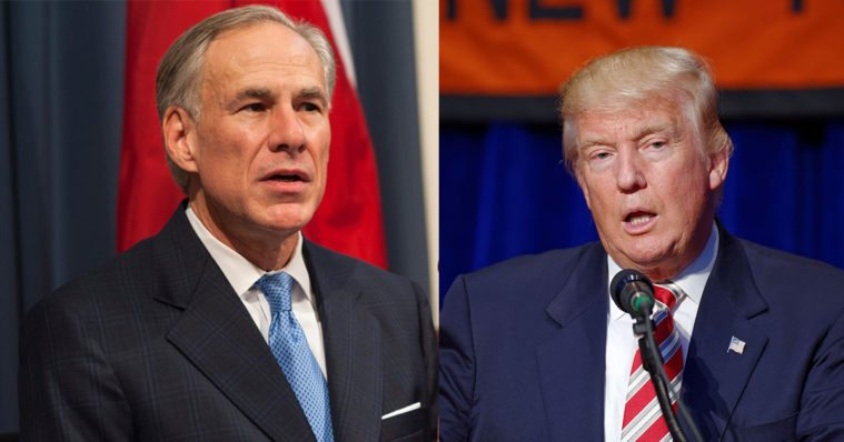 Greg Abbott, Donald Trump