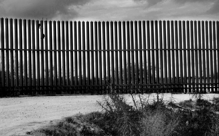 A stretch of border fence in Hidalgo County.