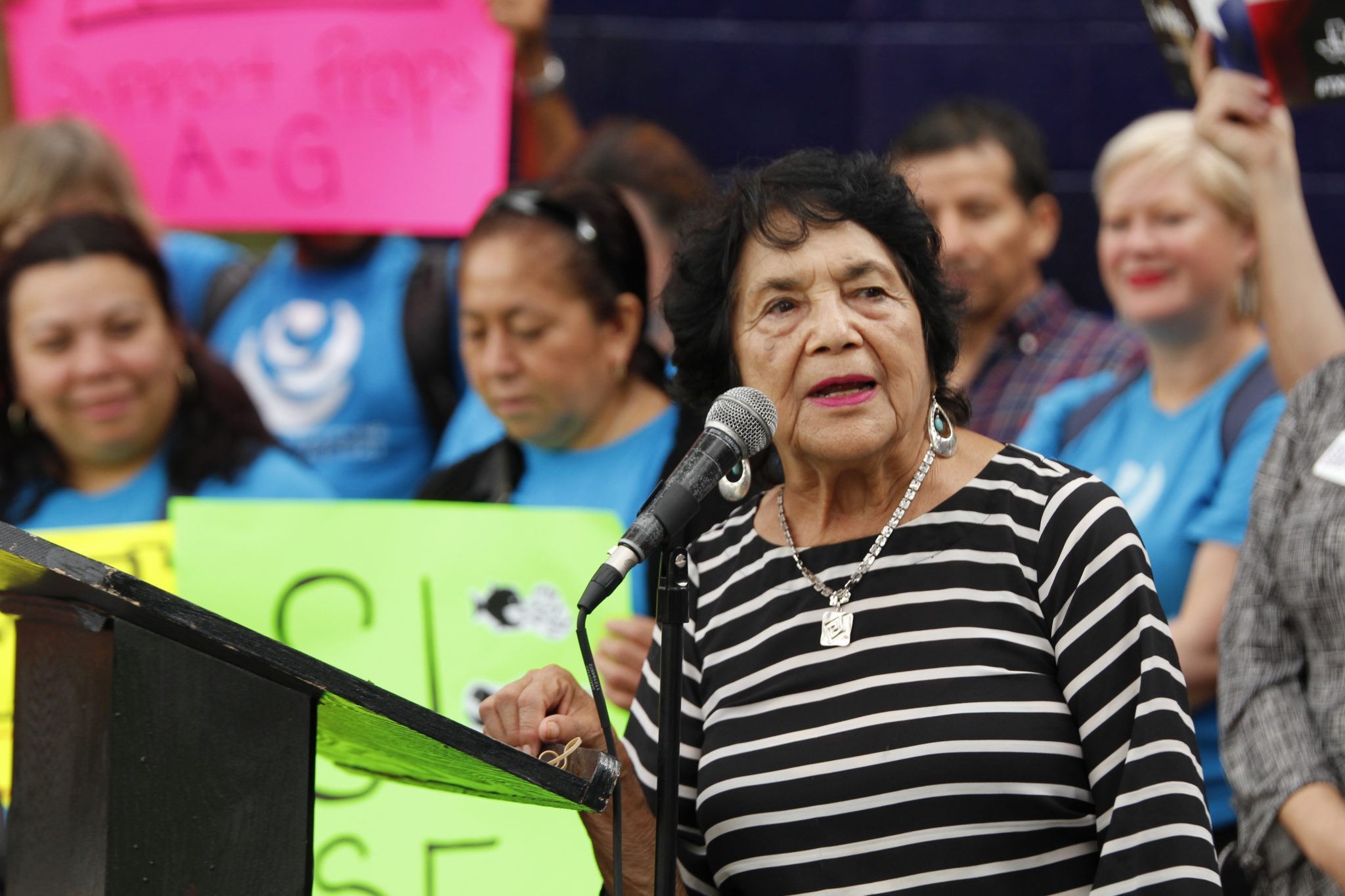 Dolores Huerta is Still Knocking on Doors and Registering Voters at 88