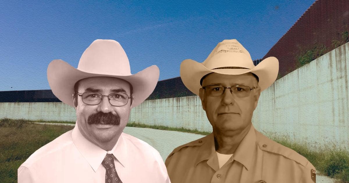 "Hidalgo County Sheriff J.E. ""Eddie"" Guerra (left), Brewster County Sheriff Ronny Dodson"