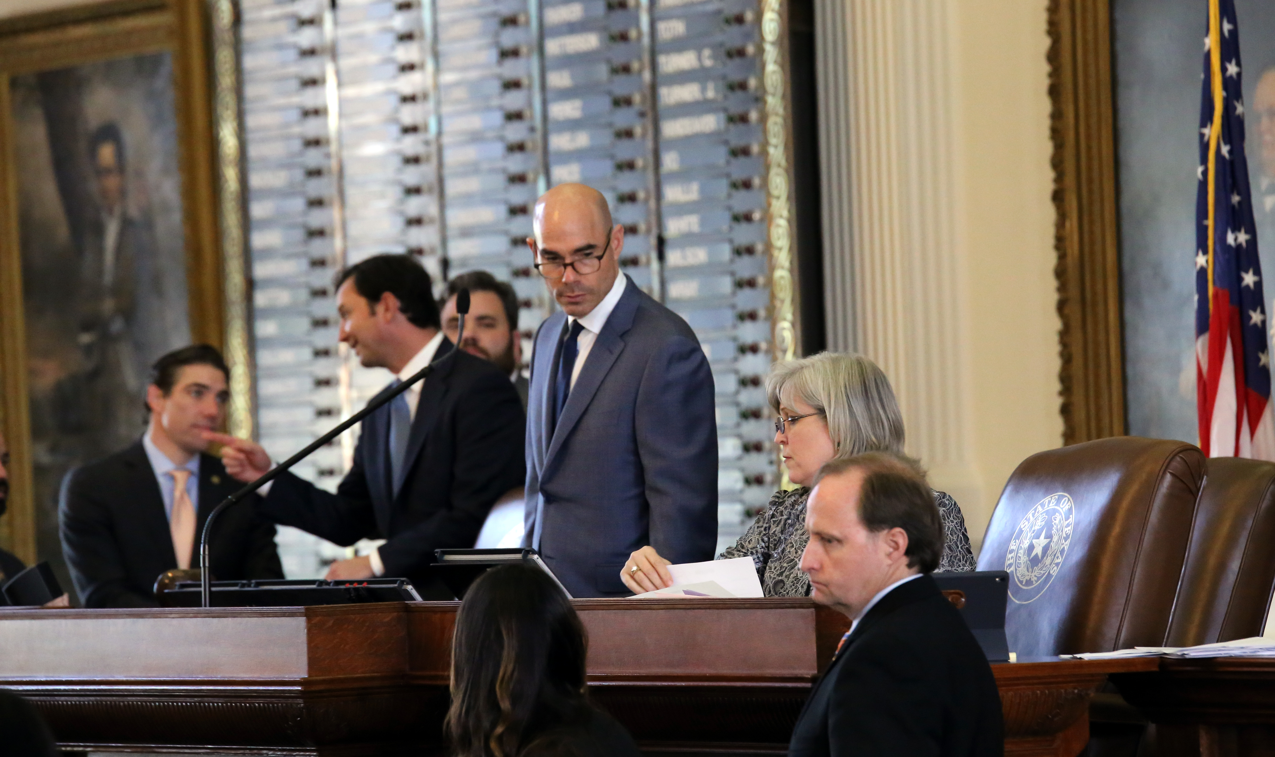 House Speaker Dennis Bonnen in the Texas House during the 2019 legislative session.