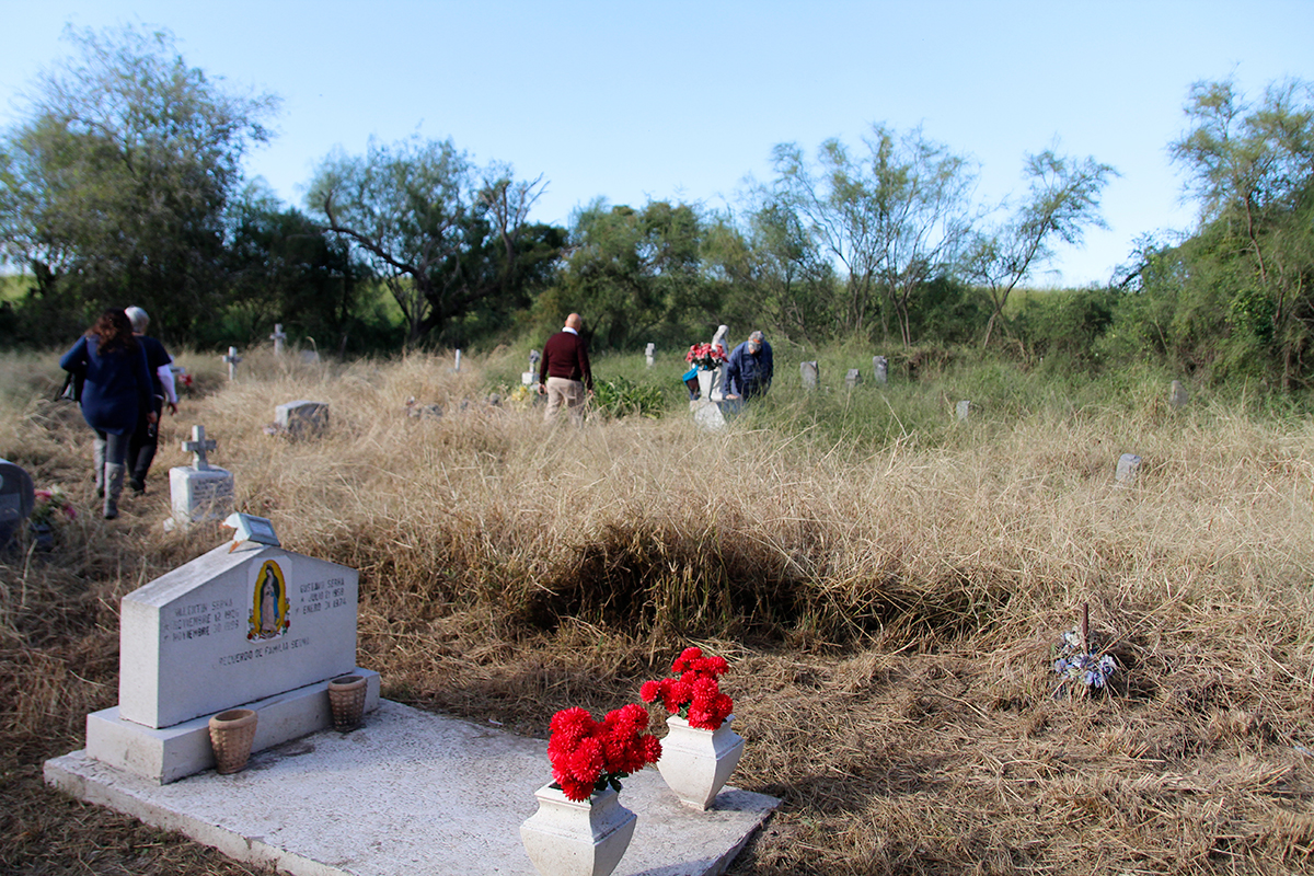 Descendants of those buried in the Eli Jackson Cemetery visit the graveyard in November 2018.