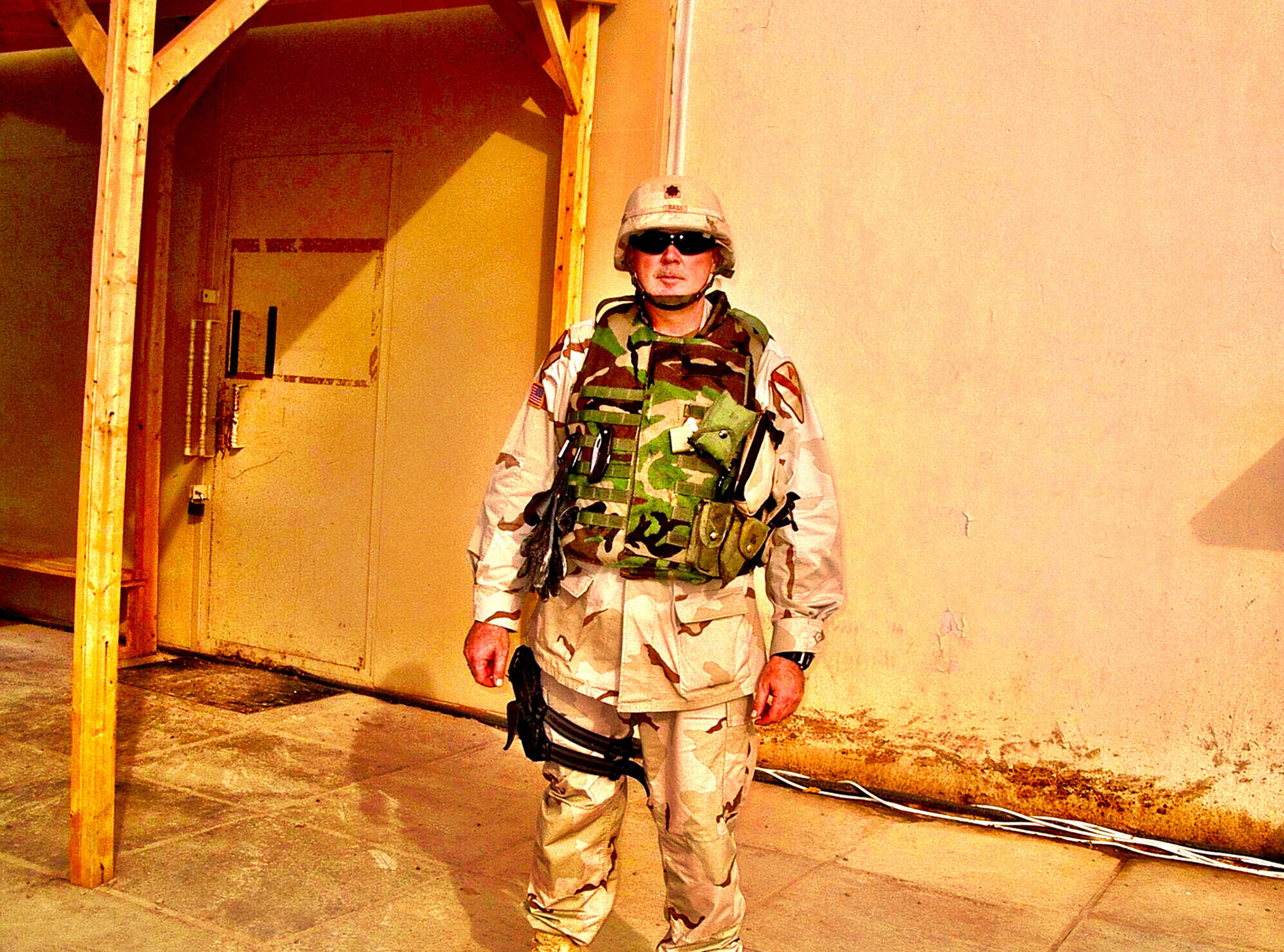 Dave Bass in Taji, Iraq, in 2004.