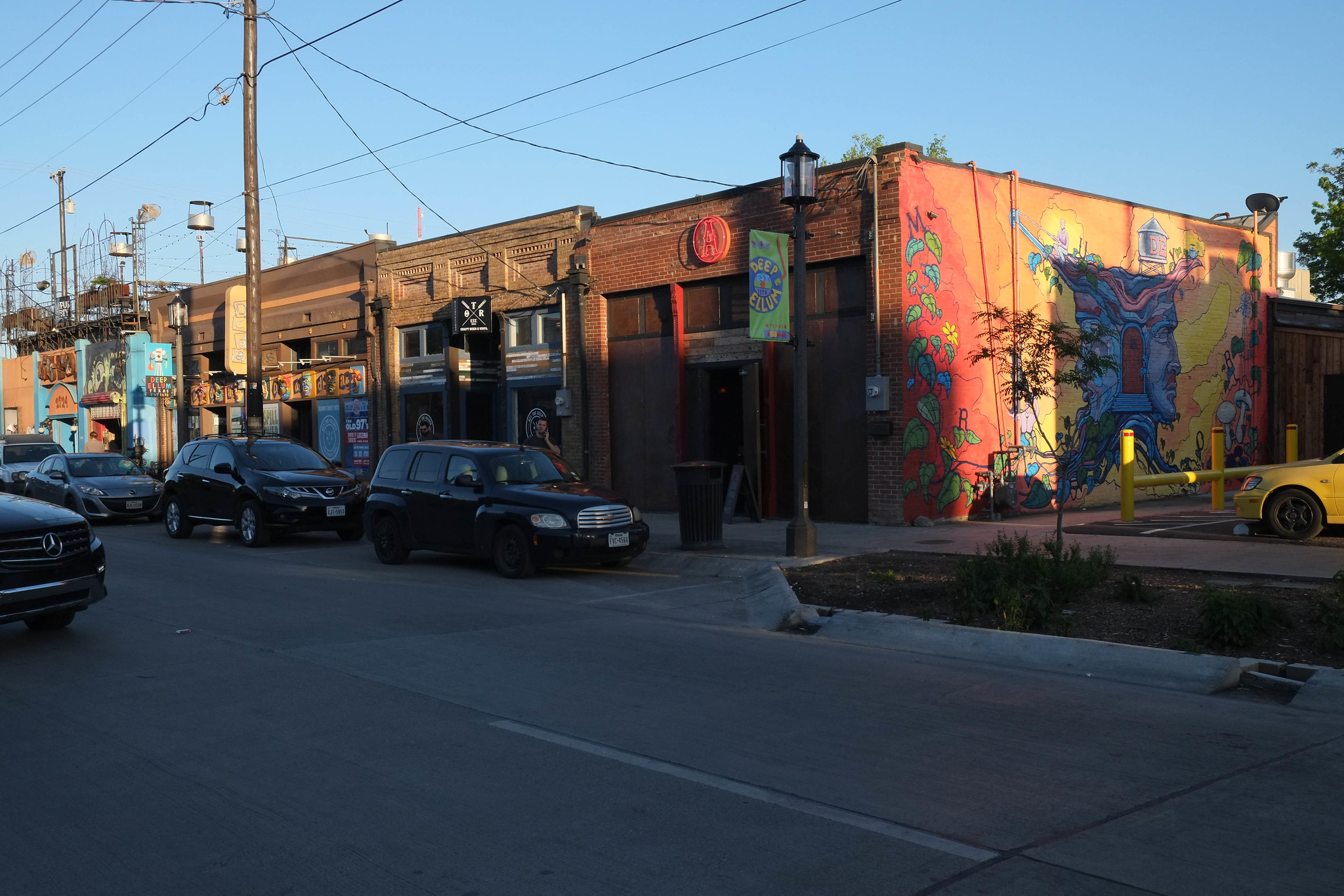 Businesses in Deep Ellum in Dallas.