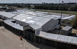 The tent court facility in Laredo.