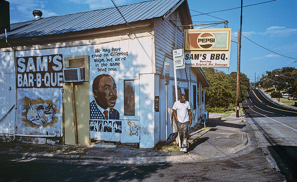 Sam's BBQ (since 1976) is situated on East Twelfth and Poquito Streets.