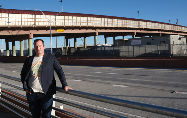 Jeremy Slack, photographed on the Cesar E. Chavez Border Highway in El Paso, recently led a research team that interviewed more than 1,100 people to learn what happens to deportees in Mexico.