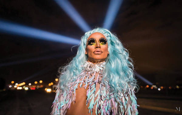 I met Argeenis, a 23-year-old drag queen from Ciudad Juárez, on my fifth day of documenting El Paso's Border Tuner art project. The multimedia installation by Rafael Lozano-Hemmer virtually connected El Paso and Juárez for 12 days in November. The public was invited to operate searchlights installed at six stations on both sides of the Rio Grande. When two beams of light crossed from opposite sides, microphones and speakers switched on, allowing people to talk with each other across the wall separating the two cities. Read more at texasobserver.org/bordertuner.