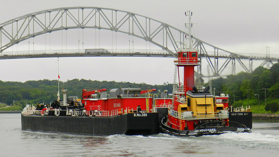 A Bouchard boat crosses Cape Cod Canal.