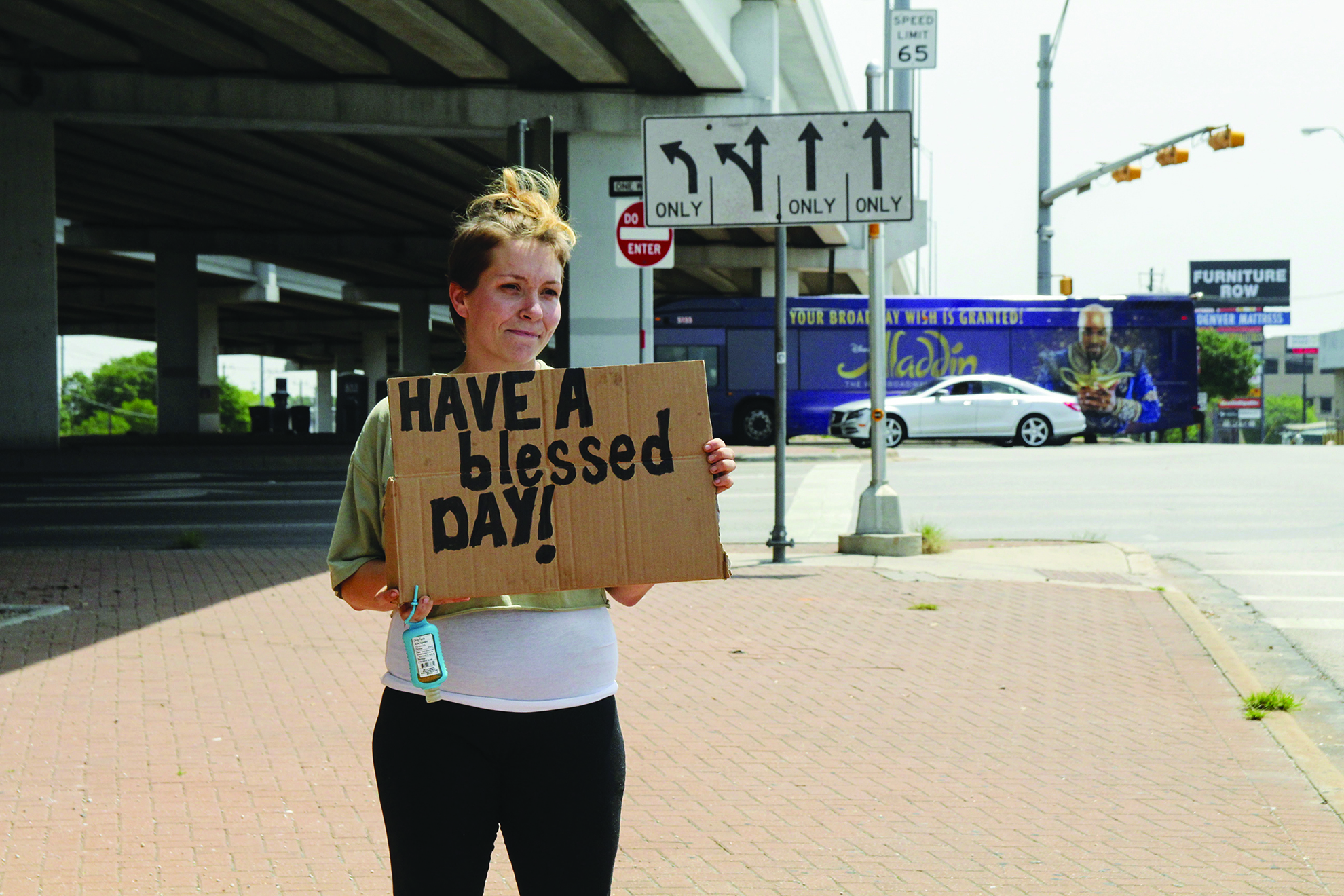 Rachel Schuyler lives under a bridge in North Austin. She started a group called Hobos with God to help her fellow unhoused.