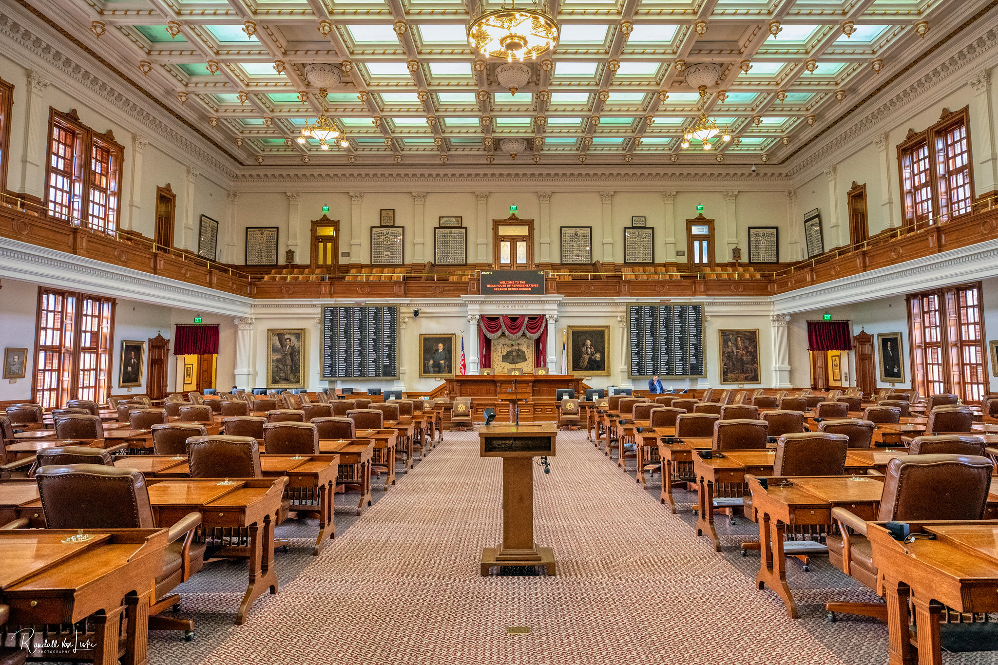 The House chamber at the Texas Capitol.