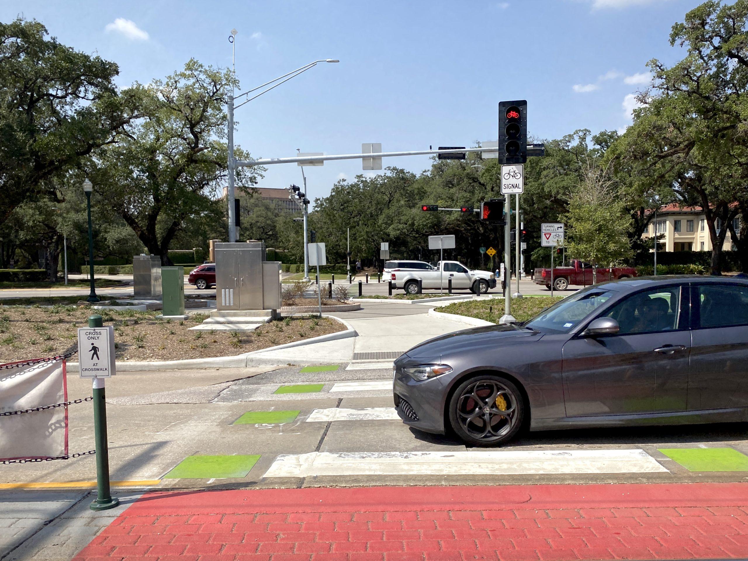 A crosswalk in Houston.
