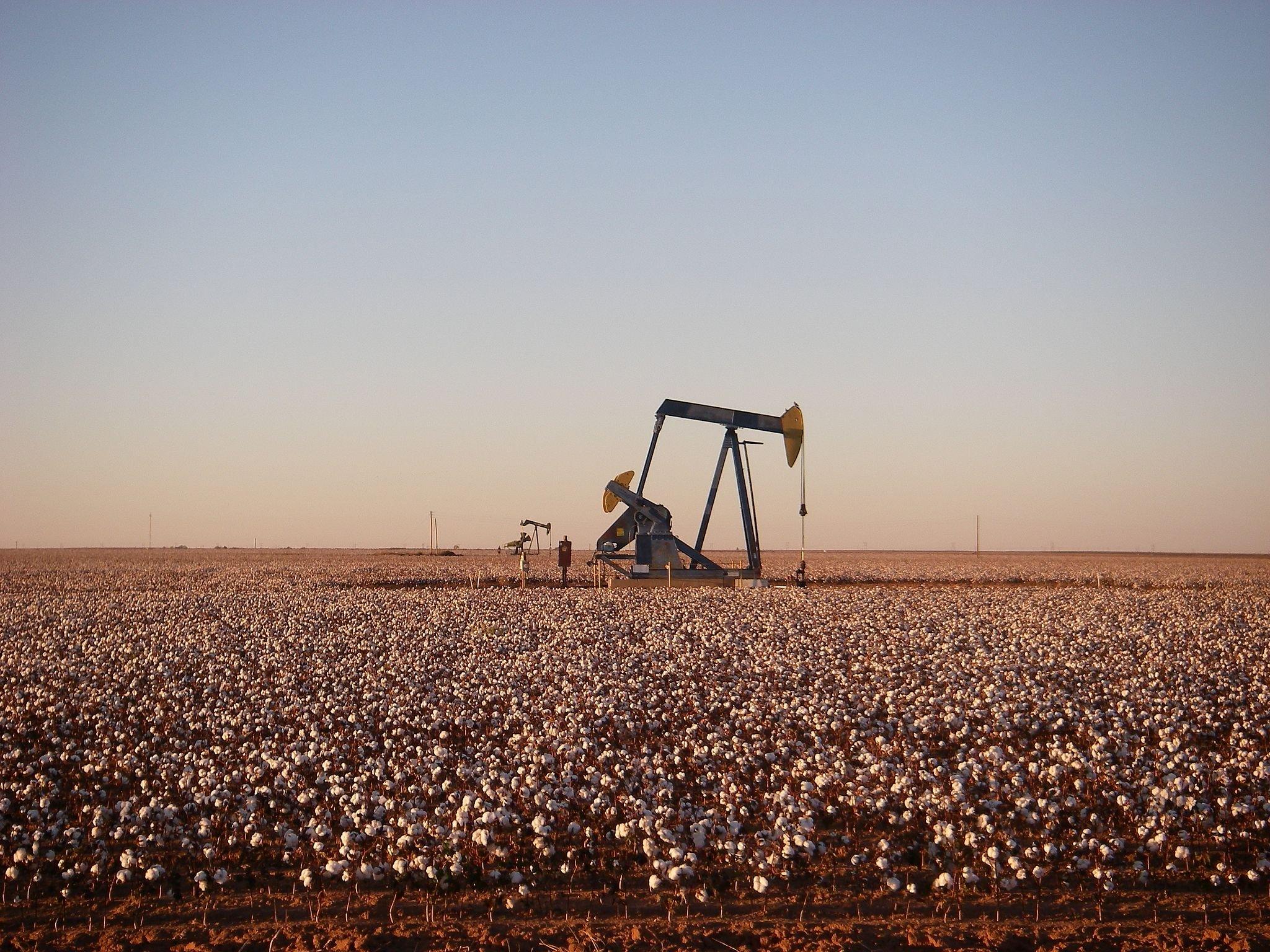 An oil field in Andrews.
